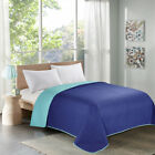 Single Bed Quilt Bedspreads Twin Full/Queen King Checkered Blue All Season image