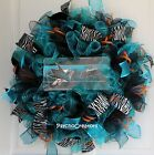 SAN JOSE SHARKS Ice Hockey Ruffle Mesh Wreath, Teal Black Sports Door Decor $75.0 USD on eBay