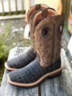 Twisted X Mens Lite Cowboy Collection Caiman Print Square Toe Boots MLCW023