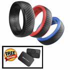 Ikonfittness 3 Color Silicone Rubber Wedding Ring Rubber for Men Comfortable Fit