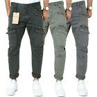 X-feel Men's Cargo Trousers Slim Fit Stretch Chino Trousers 3 Colors