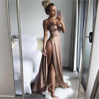 Women Lace Formal Wedding Bridesmaid Long Evening Party Prom Gown Cocktail Dress