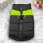 Waterproof Pet Dog Clothes Autumn Winter Warm Padded Coat Vest Jacket Apparel