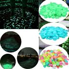 Внешний вид - 100x Glow In The Dark Pebbles Stone Rock Walkway Decor Fish Tank Aquarium Garden