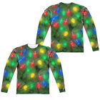OH CHRISTMAS TREE COSTUME Adult Men's Long Sleeve Sublimated T-Shirt F/B SM-3XL