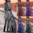 USA Women Summer Boho Long Maxi Dress Cocktail Party Beach D
