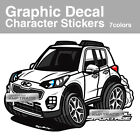 8 X 16inch Graphic Decal Character Stickers 1Sheet for KIA 2017-2018 Sportage QL