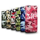 Personalised Initials Army Camo Camouflage 3D Case for Samsung Huawei Nokia