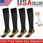 4 Pairs Compression 20-30mmHg Support Socks Relief Miracle Calf Men