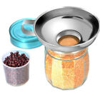 Stainless Steel Kitchen Wide Mouth Canning Funnel Hopper Filter Cooking Tools