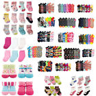 12~120pair Baby Girl Boy Newborn Socks Assorted Colors Ankle Crew Wholesale Lots