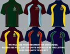 UNITS R TO S EMBROIDERED FULL REGIMENTAL COLOUR LONG SHORT SLEEVE POLO SHIRTS