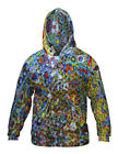 Yizzam- Flower Paint Balls Collage - New Mens Hoodie Sweater