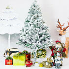 Holiday Time 4 5 6 7 FT Flocked Artificial Christmas Tree Santa Pine Dec White