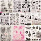 Happy Xmas Transparent Silicone Clear Stamps Christmas DIY Scrapbook Embossing