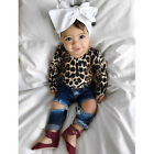kids baby girl leopard outfits long sleeve