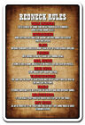 REDNECK RULES Sign country southern hillbilly humor Tall