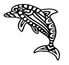 tribal dolphin vinyl decal sticker home wall