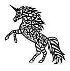 Tribal Unicorn Vinyl Decal Sticker Home Wall Cup Decor Choos