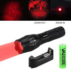 VASTFIRE 350 yard Zoomable Green/Red Light Flashlight Set for Hunting Hog Pig