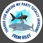 PERSONALISED SHARK GLOSS BIRTHDAY PARTY BAG FOOD,STICKERS,SWEET CONE LABELS
