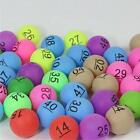 50Pcs Colorful Number Ping Pong Balls Group Games Advertising Lottery Game Ball