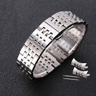New+Curved+Stainless+Steel+Polished+Butterfly+Clasp+Replacement+Watch+Band+Strap