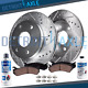 Front Drilled Brakes Rotors + Ceramic Pads for Nissan FRONTIER PATHFINDER XTERRA