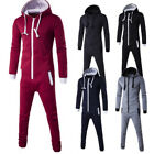 Men Winter Simple Hooded Romper Bodysuit Clothes One Piece Jumpsuit Playsuit Set