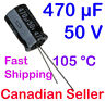 470uF 50V 12.5x20mm 105 °C Nichicon VZ For PC TV AUDIO VIDEO TFT ACL LCD
