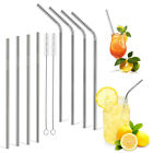 Reusable Stainless Steel Straws,Set of 8 Extra Long 10.5'' Metal Drinking Straws