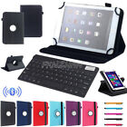 """For ASUS 7"""" 10.1"""" Tablet Bluetooth Keyboard Universal 360° Rotating Leather Case"""