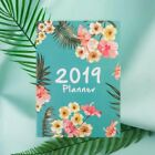 A4 Size 2019 Planner Diary Tropical Flowers Weekly Monthly Notebook