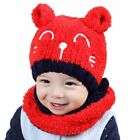 Winter Hat Toddler Knitted Ball Kids Scarf Bonnet Infant Baby Boy And Girl Caps