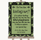 Wedding Sign Sage Green Damask Instagram Social Media Photo Sharing