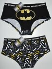 BATMAN KNICKERS OFFICIAL FRONT BACK PRINT GOLD GLITTER LADIES SIZES UK 6-20
