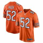 Mens Chicago Bears Khalil Mack 52 Orange Jersey M 3XL