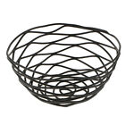 Wire Bowl Round Iron Metal Fruit Vegetable Snack Basket Home Kitchen Décor