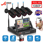 "1080P Home Security Camera System Wireless CCTV 4CH HD 7""Monitor Outdoor 1TB HDD"
