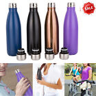 500ML Stainless Steel Double Walled Vacuum Insulated Water Drinks Sport Bottle