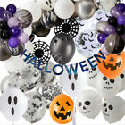 Halloween Latex Helium Balloons Decorations Spooky Bat Ghost Pumpkin Party Decor