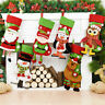 Christmas Stockings Santa Claus Snowman Sock Cloth Candy Bags Home Decorations