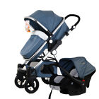 3 In 1 Baby Stroller High View Pram Foldable Pushchair Bassinet Car Safe Seat