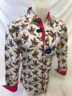 Mens SUSLO COUTURE SINGING BIRD Design Shirt Woven SLIM FIT WHITE COLORFUL 60223