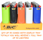 Full Size Big BIC Cigarette Lighters Multi Purpose Assorted Color Flint Lighter
