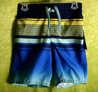 Внешний вид - Toddler OLD NAVY Boys Swim Suit Trunks YELLOW BLUE STRIPE UPF 50 Sz XS 5 NEW