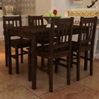 5 Piece Wood Dining Table Set 4 Chairs Kitchen Dinette Room Breakfast Furniture
