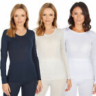 Women Ladies Long Sleeve Thermal Top Warm Winter Base Layer Insulating Tee Shirt