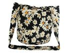 Hippie Hobo Sling Crossbody Bag Daisy Floral Print Purse Gypsy Boho Fully Lined