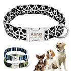Nylon Personalized Dog Collar Custom Engraved Release Buckle Small to Large XL